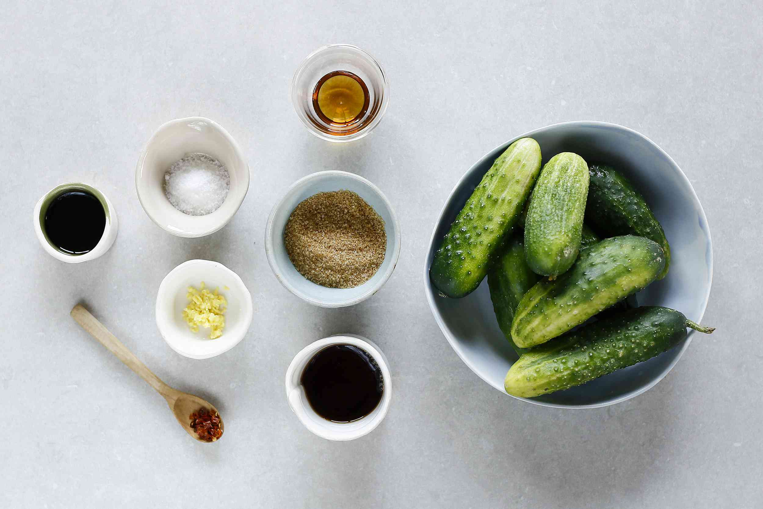 Chinese Cucumber Salad ingredients