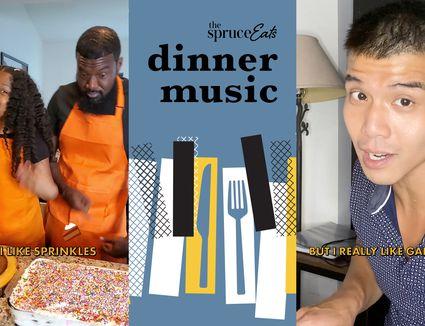 hero image for the spruce eats new social series dinner music