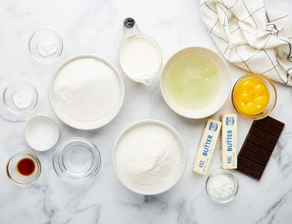 Ingredients for gluten free German cake