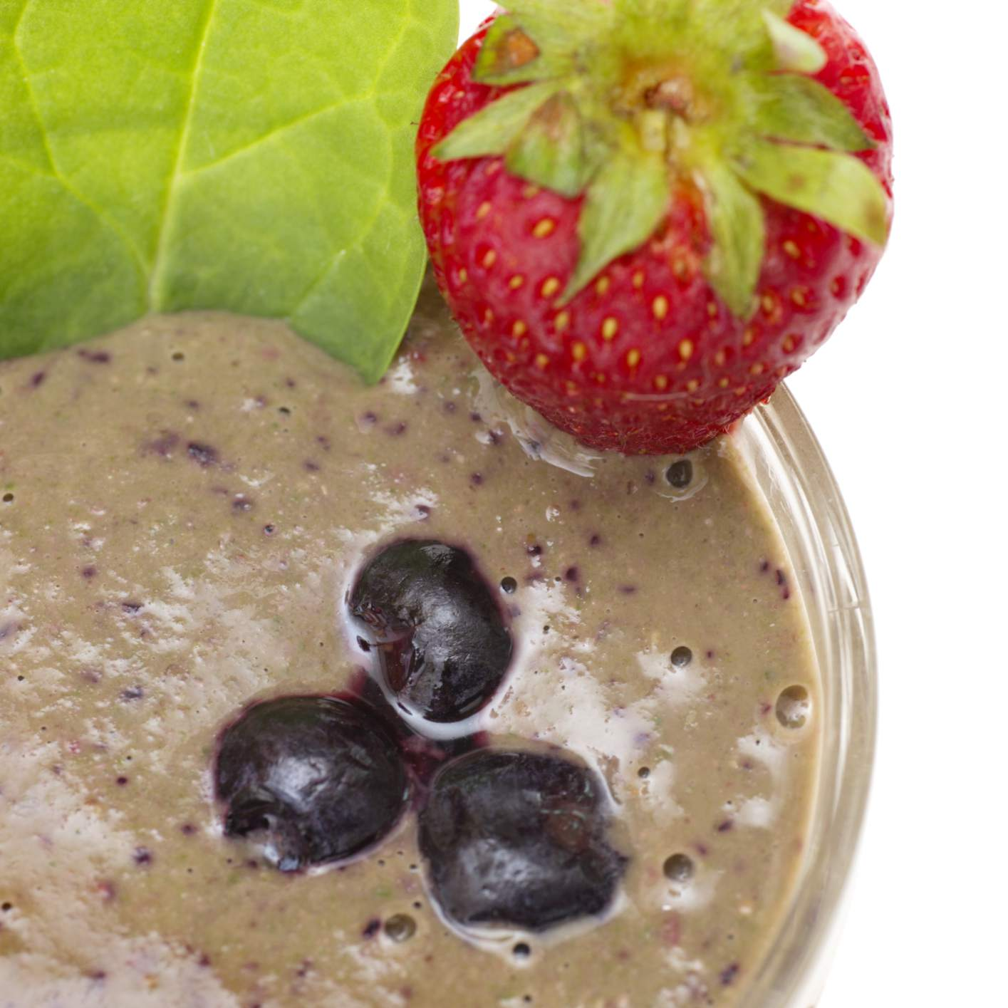 Blueberry spinach green smoothie - a raw vegan recipe