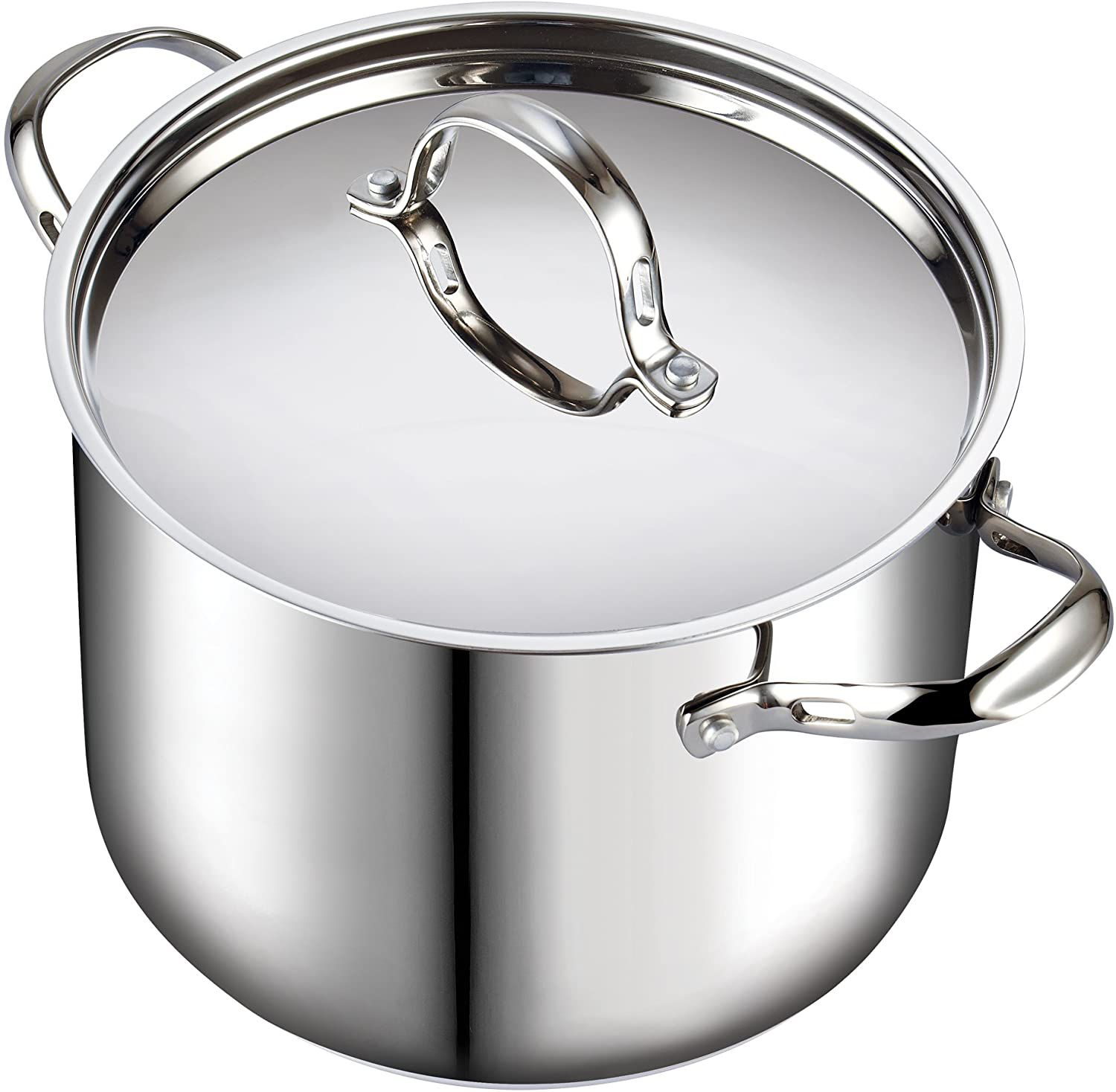 Cooks Standard 12-Quart Classic Stainless Steel Stockpot with Lid