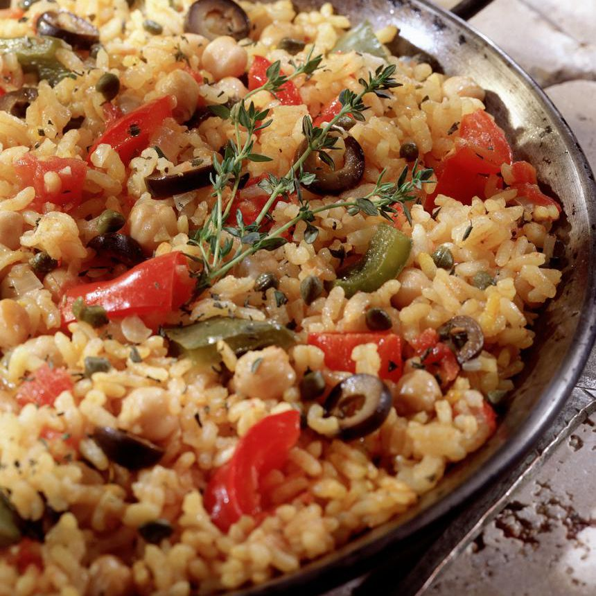 Vegetarian Paella (Paella Vegetariana)