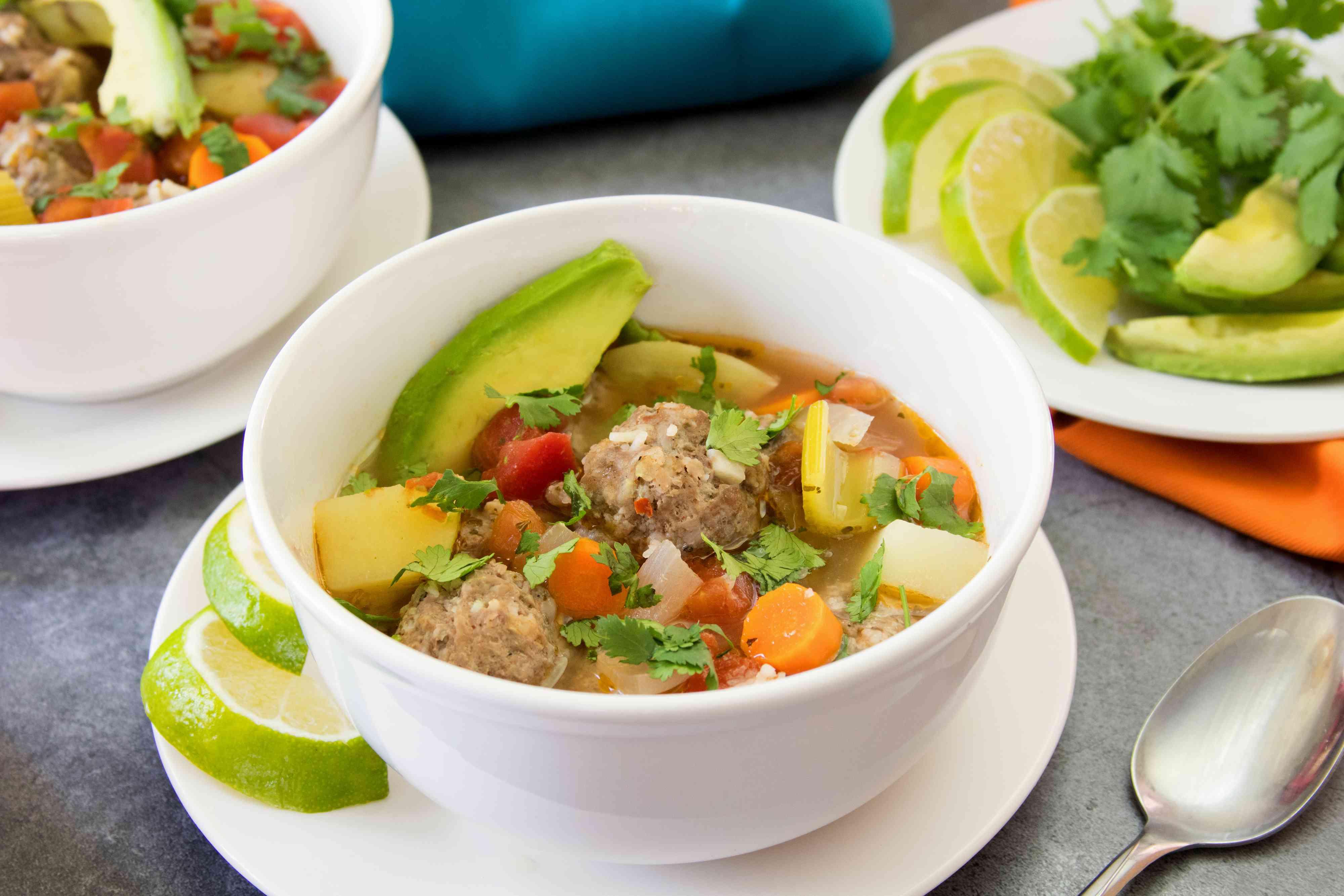 Albondigas Mexican Meatball Soup