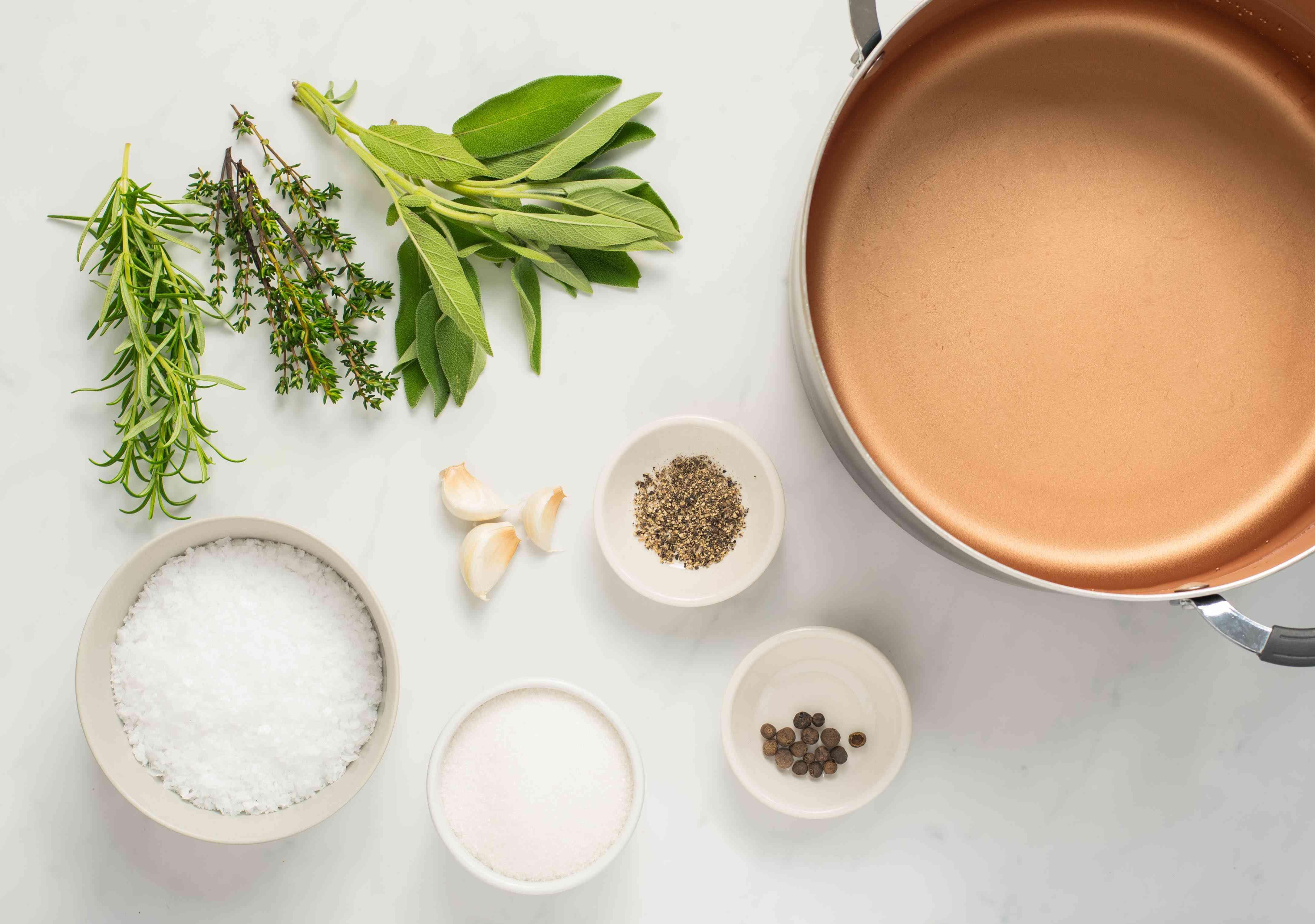 Ingredients for basic turkey brine