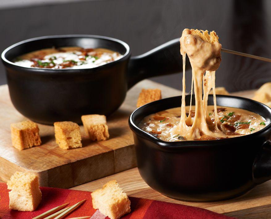 fondue de sopa de cebolla francesa