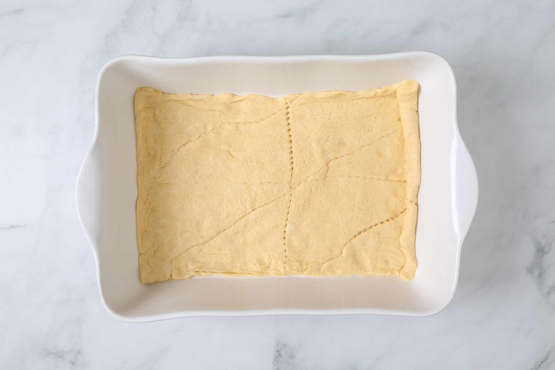 dough in a baking pan