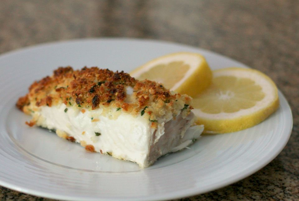 Baked Halibut With Butter Crumb Topping
