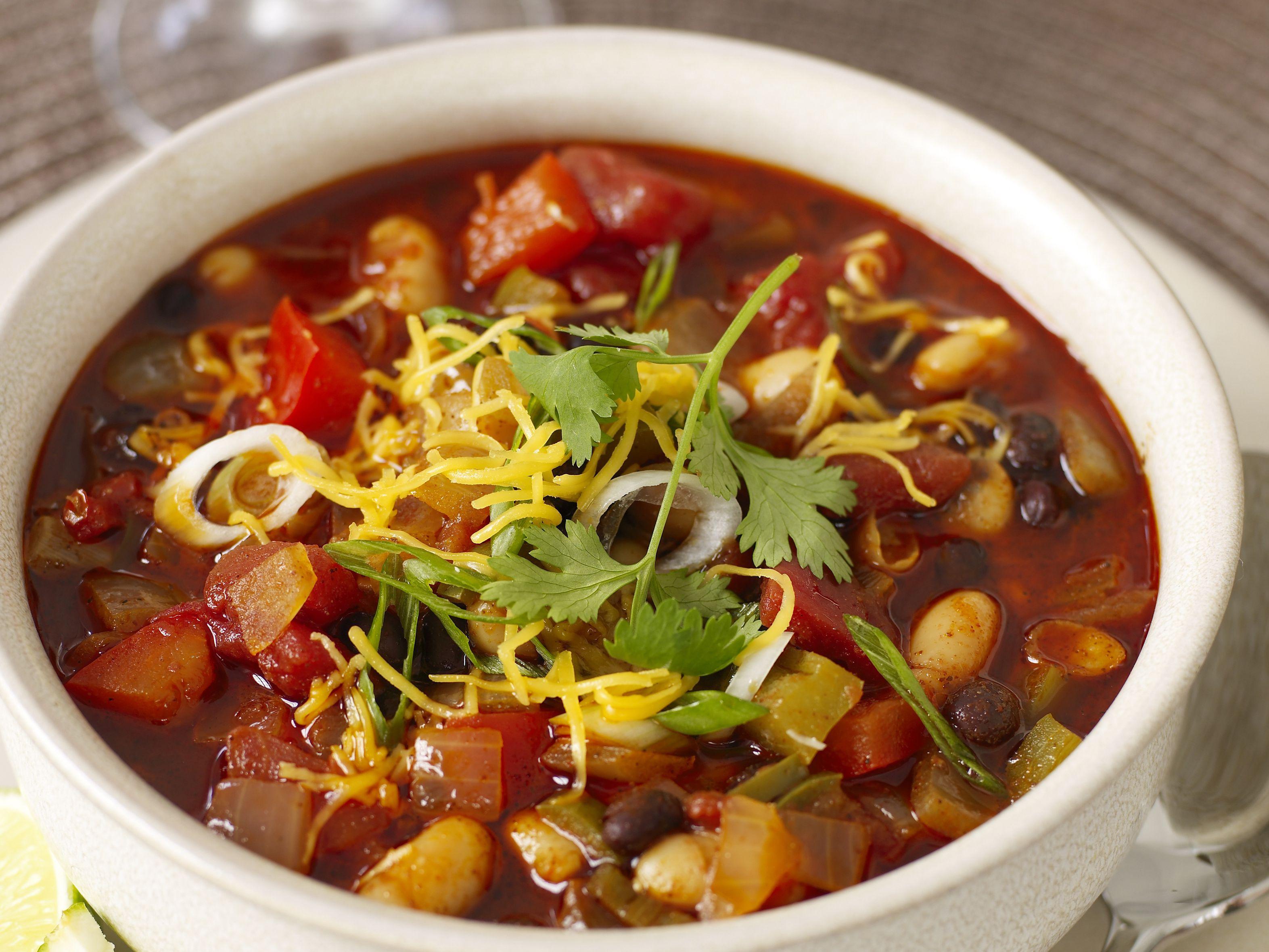 Crock Pot Vegetarian Black Bean Chili Recipe