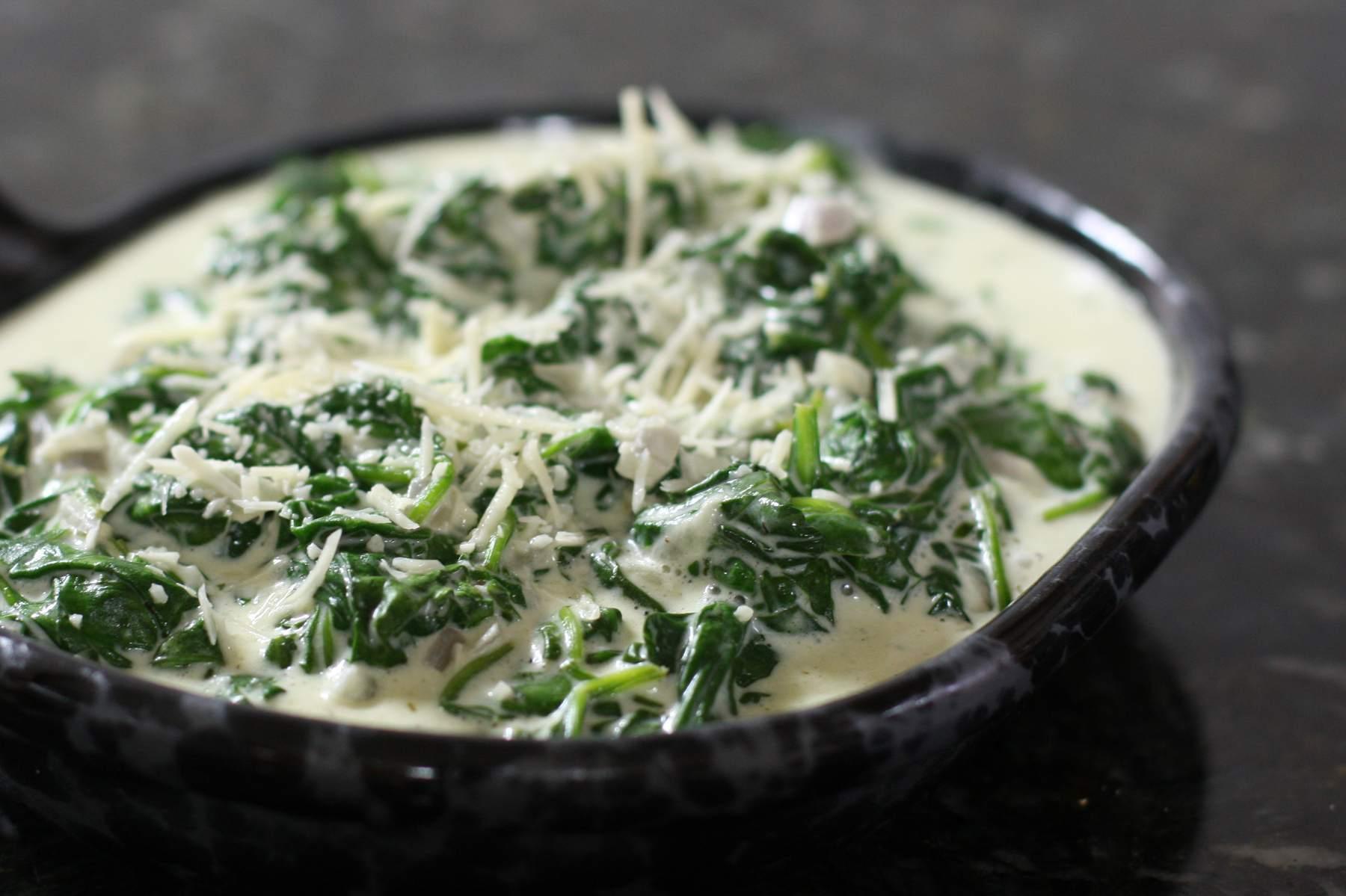 Creamy Boursin Spinach