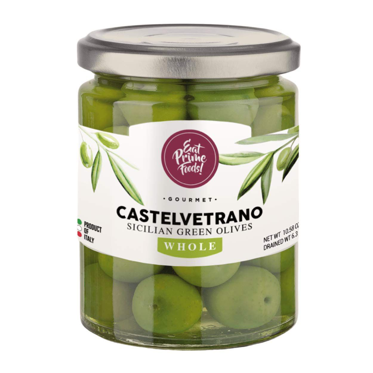 Eat Prime Foods Pitted Sicilian Green Castelvetrano Olives