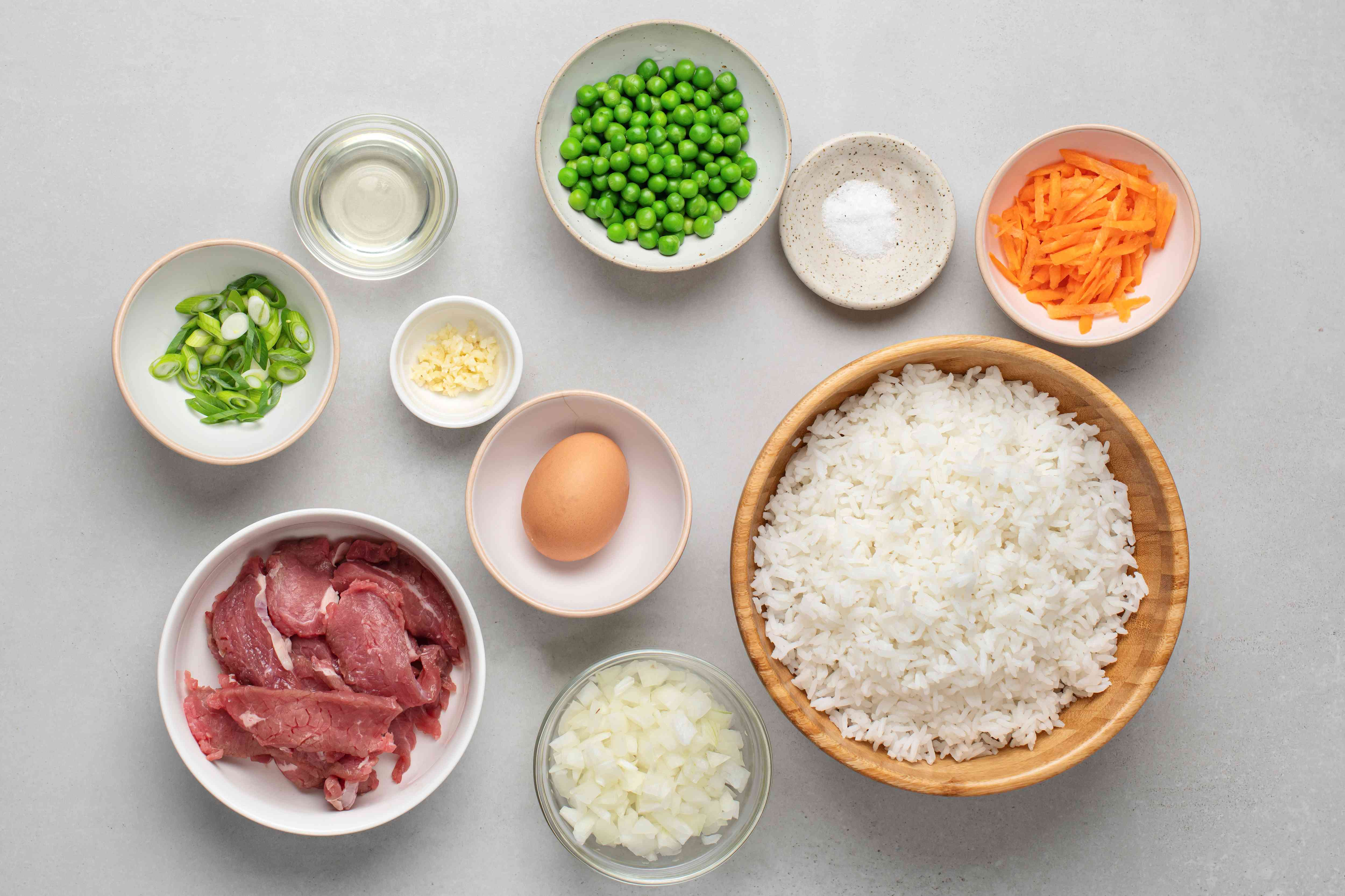 Chinese-Style Beef Fried Rice ingredients