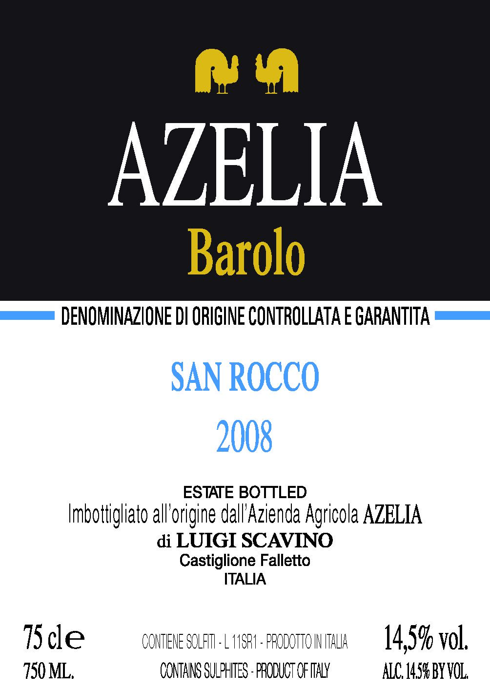 Azelia Barolo San Rocco 2008 (Piedmont)