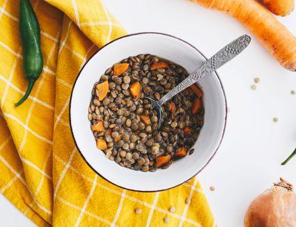 Vegetarian Crockpot Lentil Soup