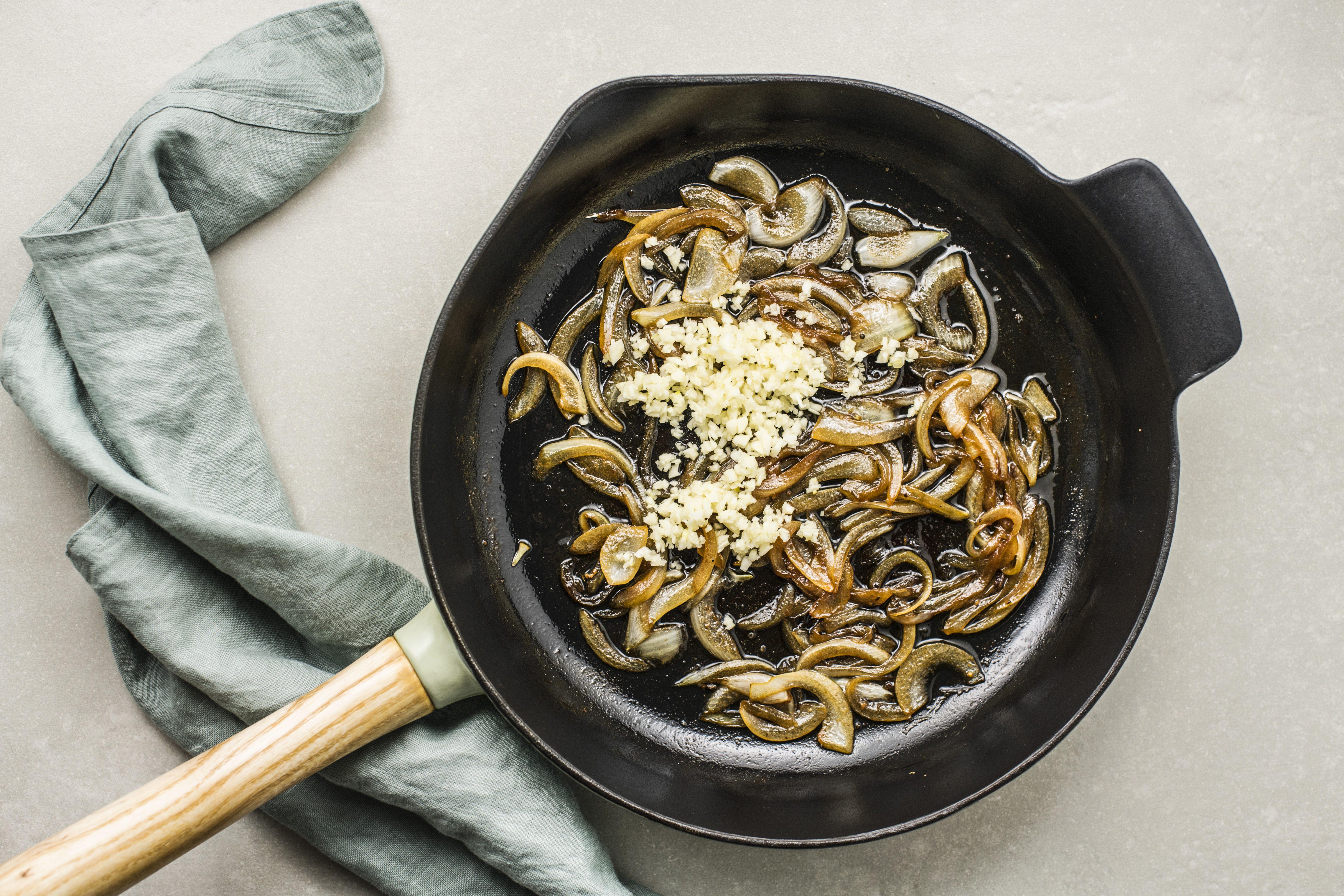 Stir in garlic