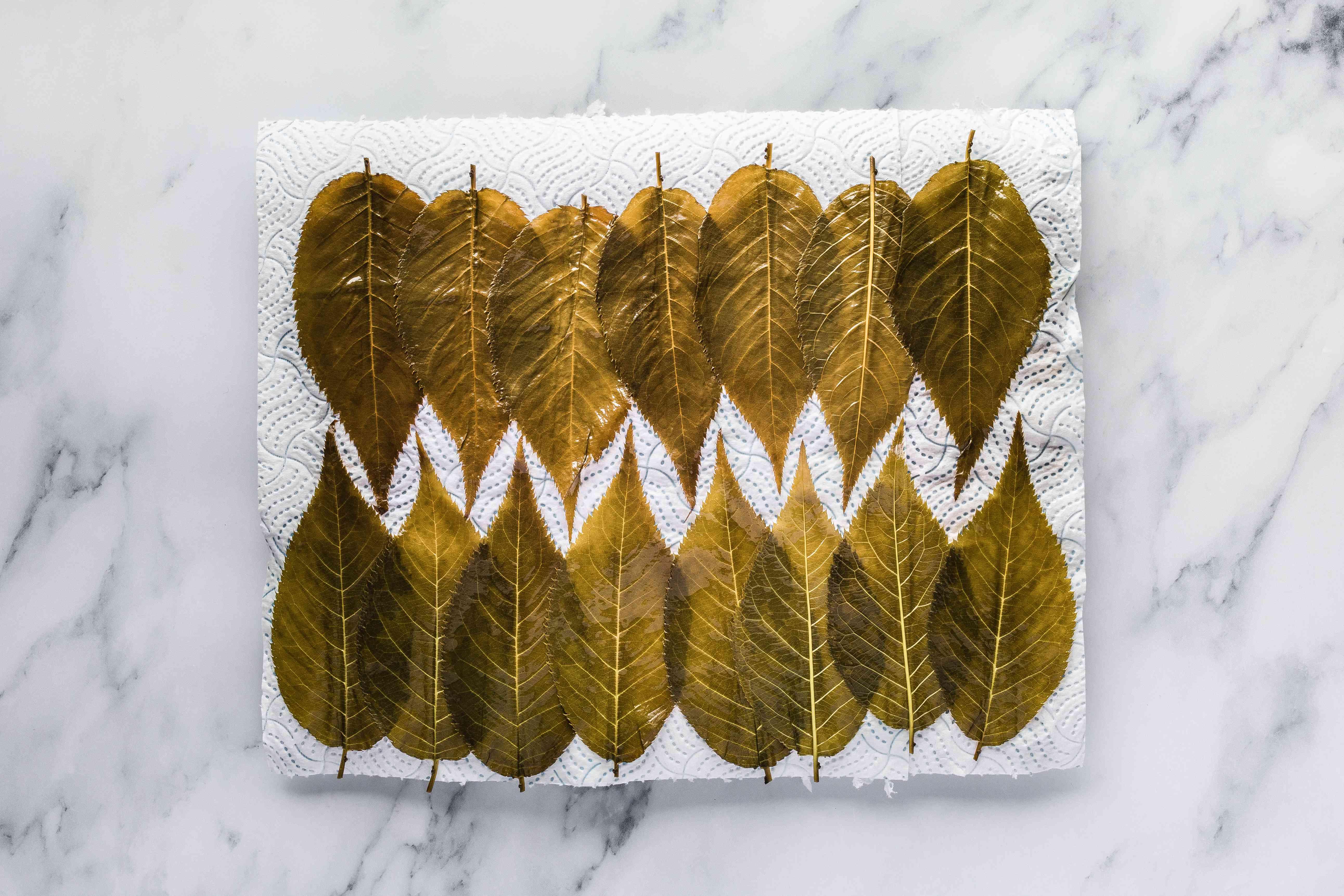 Drain leaves