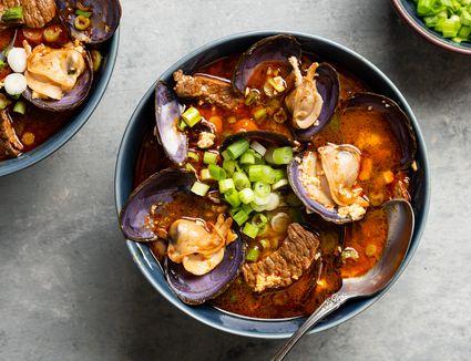 Spicy Korean Soft Tofu Stew (Soondubuchigae)
