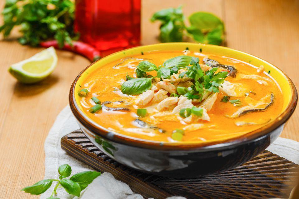Thai Chicken Soup With Coconut Milk