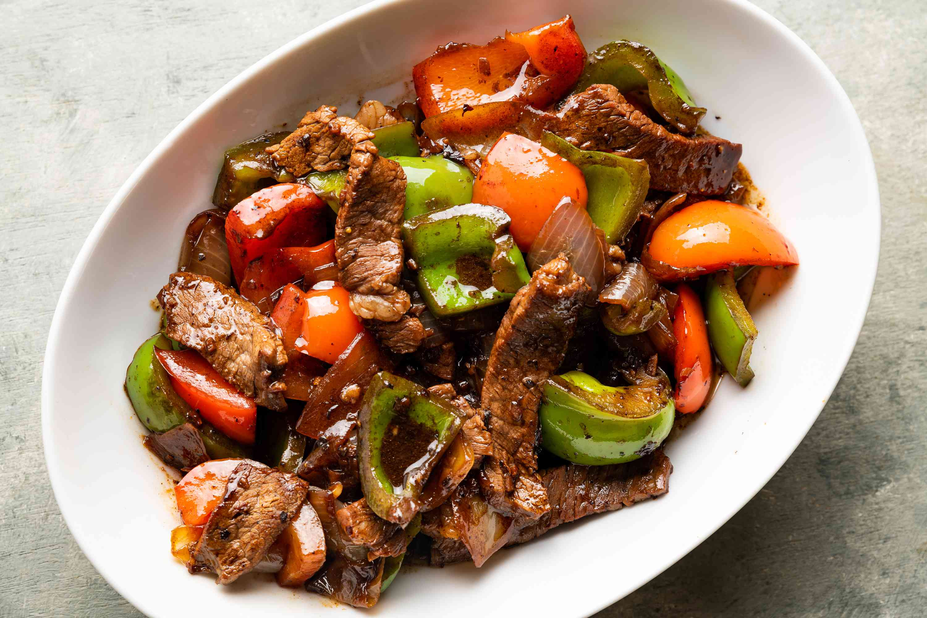 Chinese Beef and Peppers in Black Bean Sauce