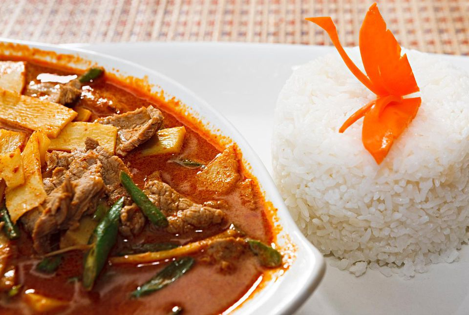 Thai beef red curry