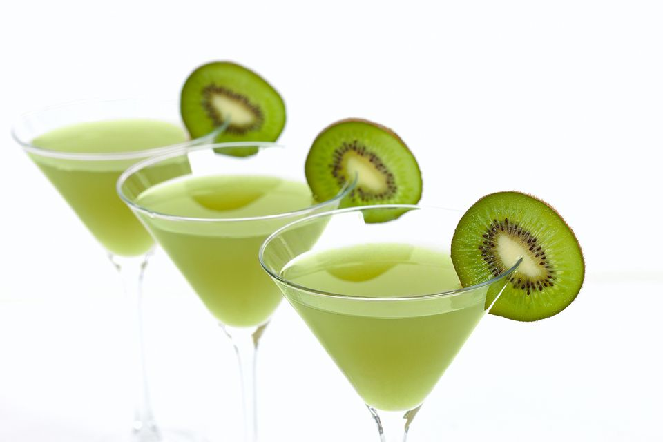 Kiwi martini with vodka