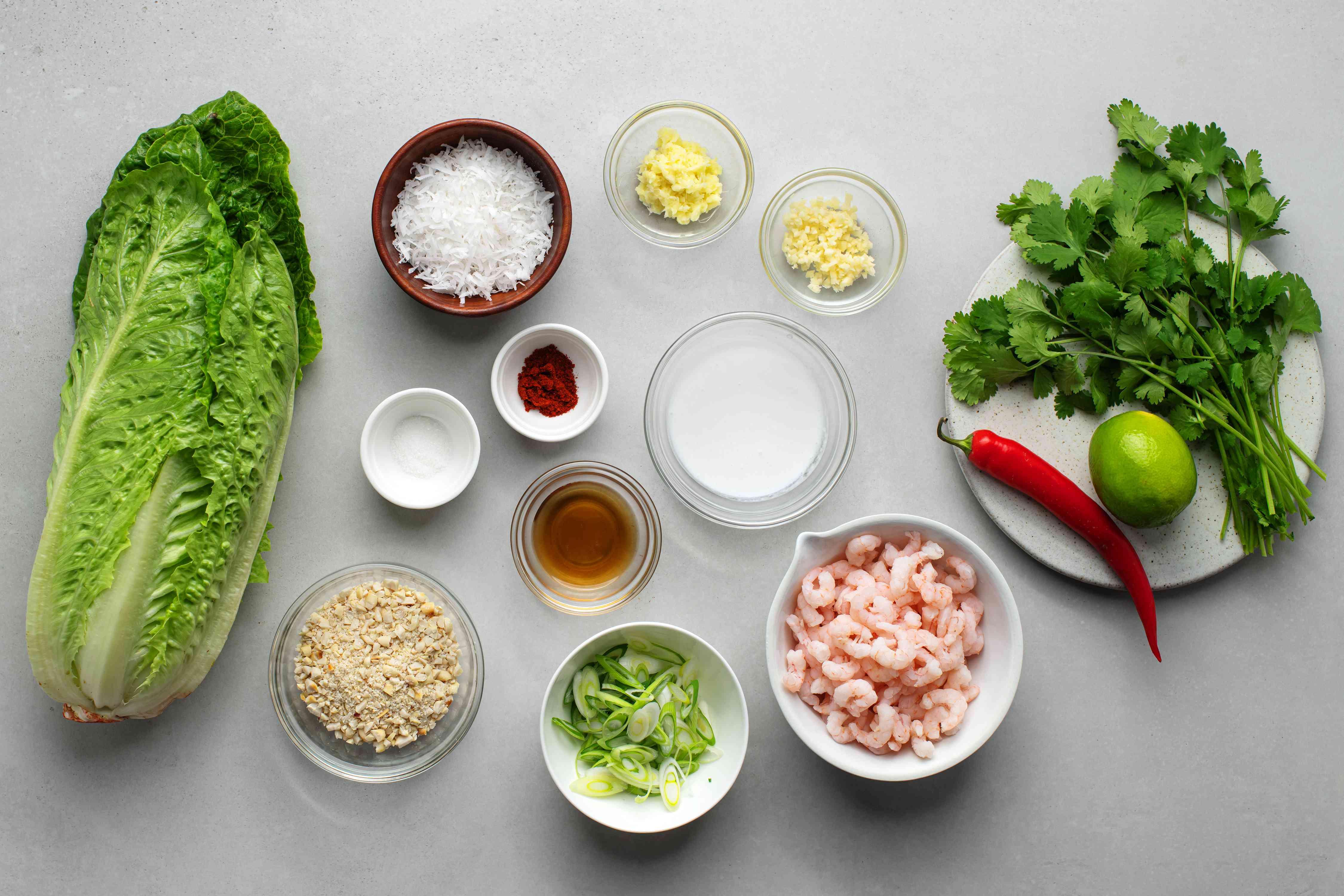 Thai Mini Shrimp Lettuce Wraps ingredients