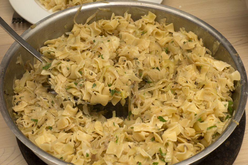 Europe, Austria, Salzburg Area, 2017: View Of Austrian Food - Krautfleckerl - Noodles And Cabbage