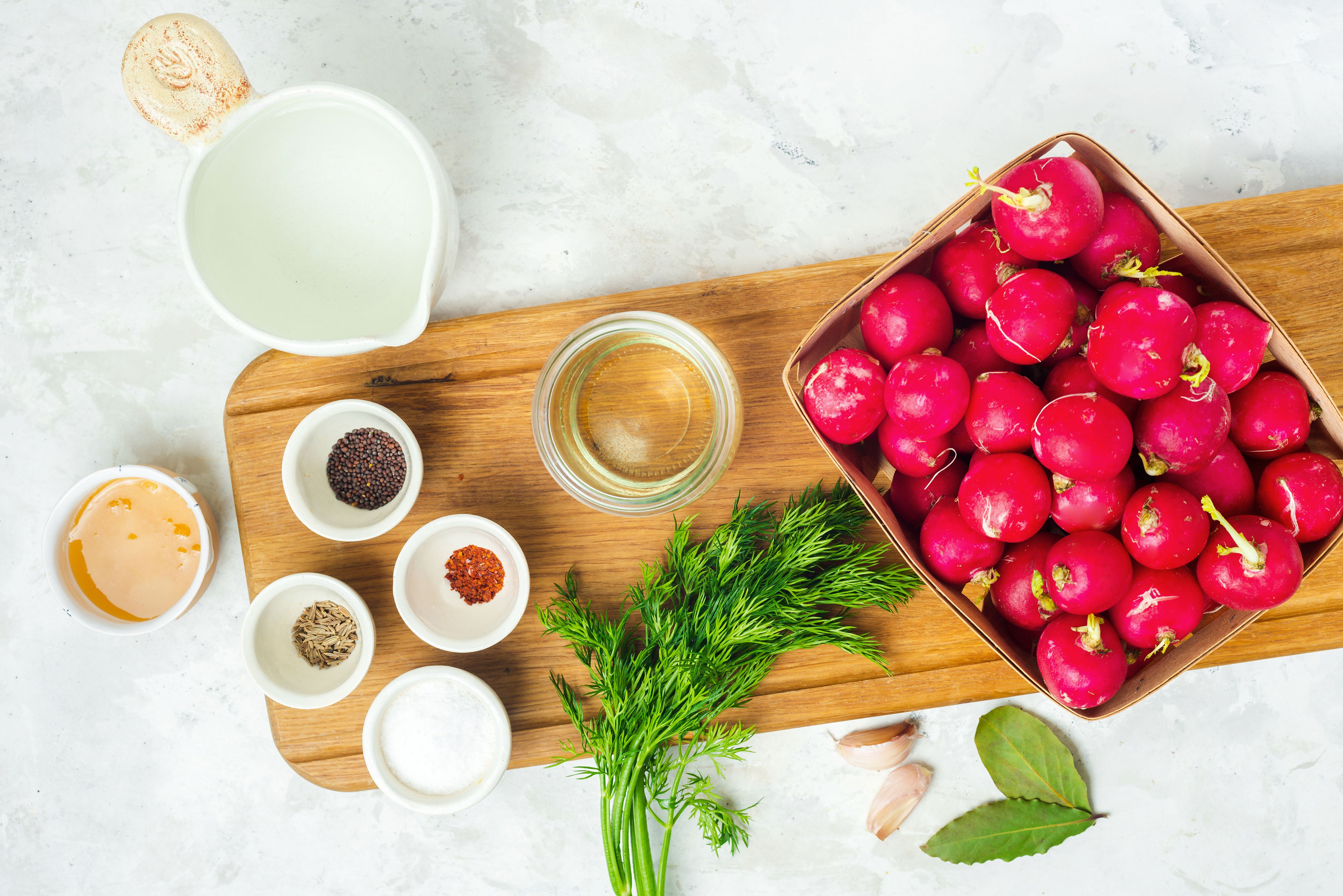 Ingredients for pickled radish