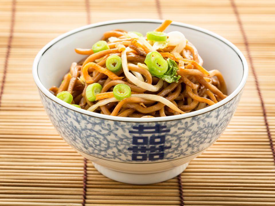 Vegan Tofu and Cashew Chow Mein