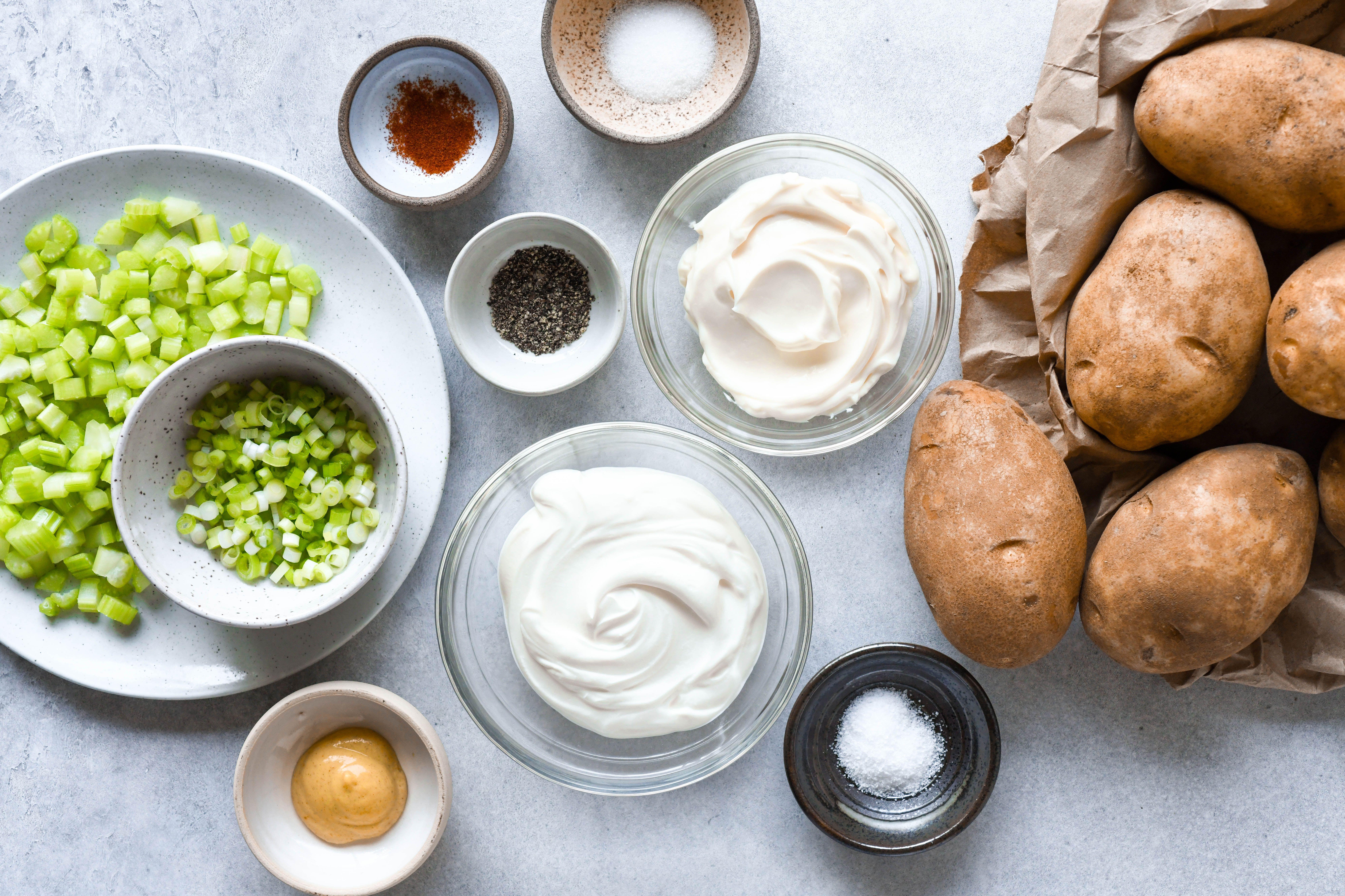 Potato Salad With Sour Cream And Dijon Mustard