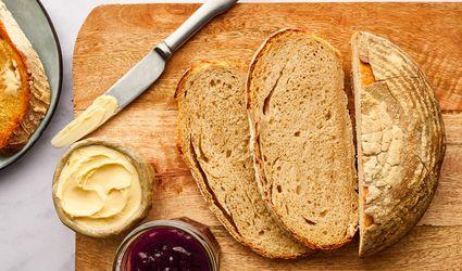 Sourdough Loaf on a woodcutting board