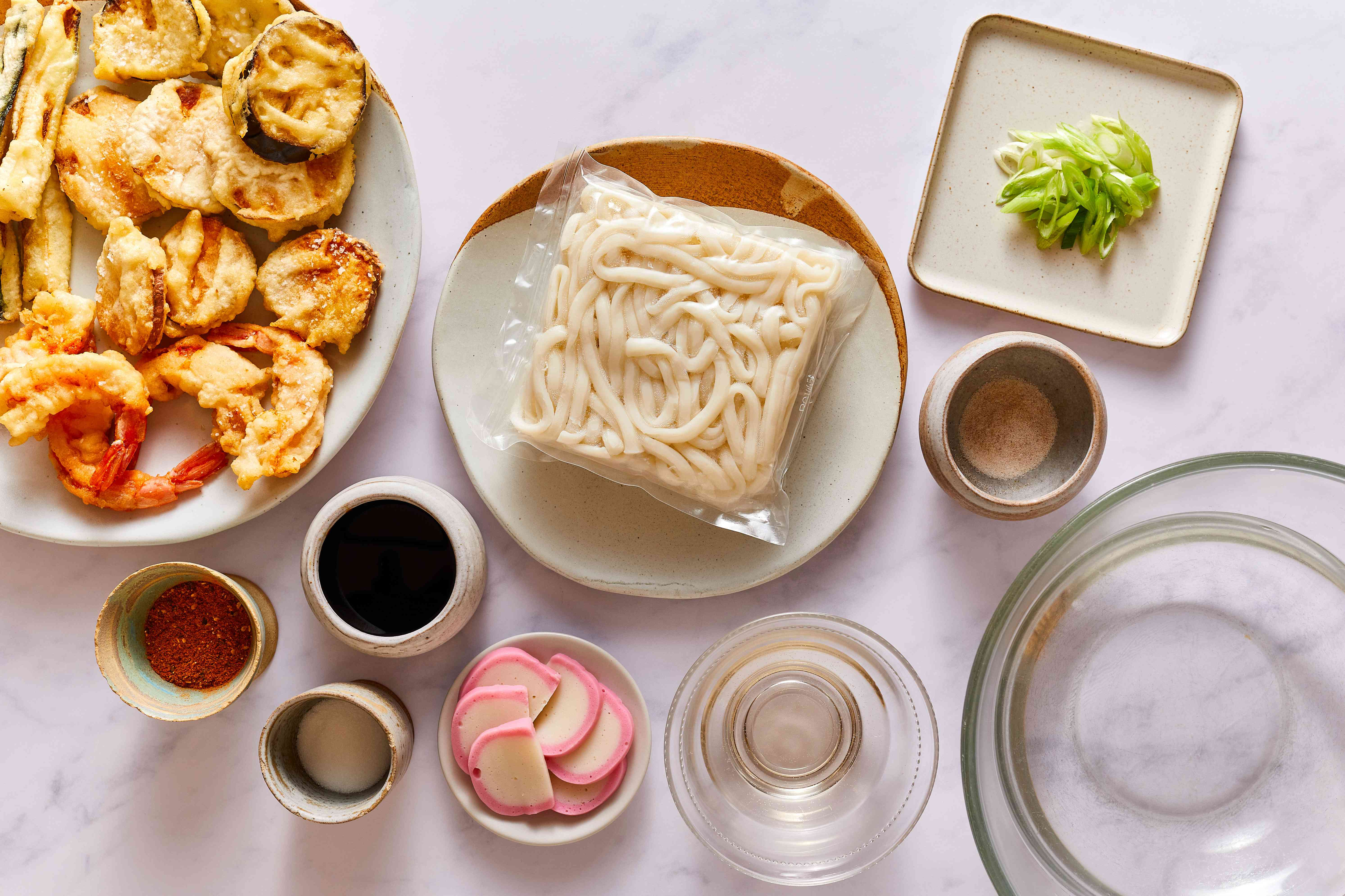 Tempura Udon ingredients