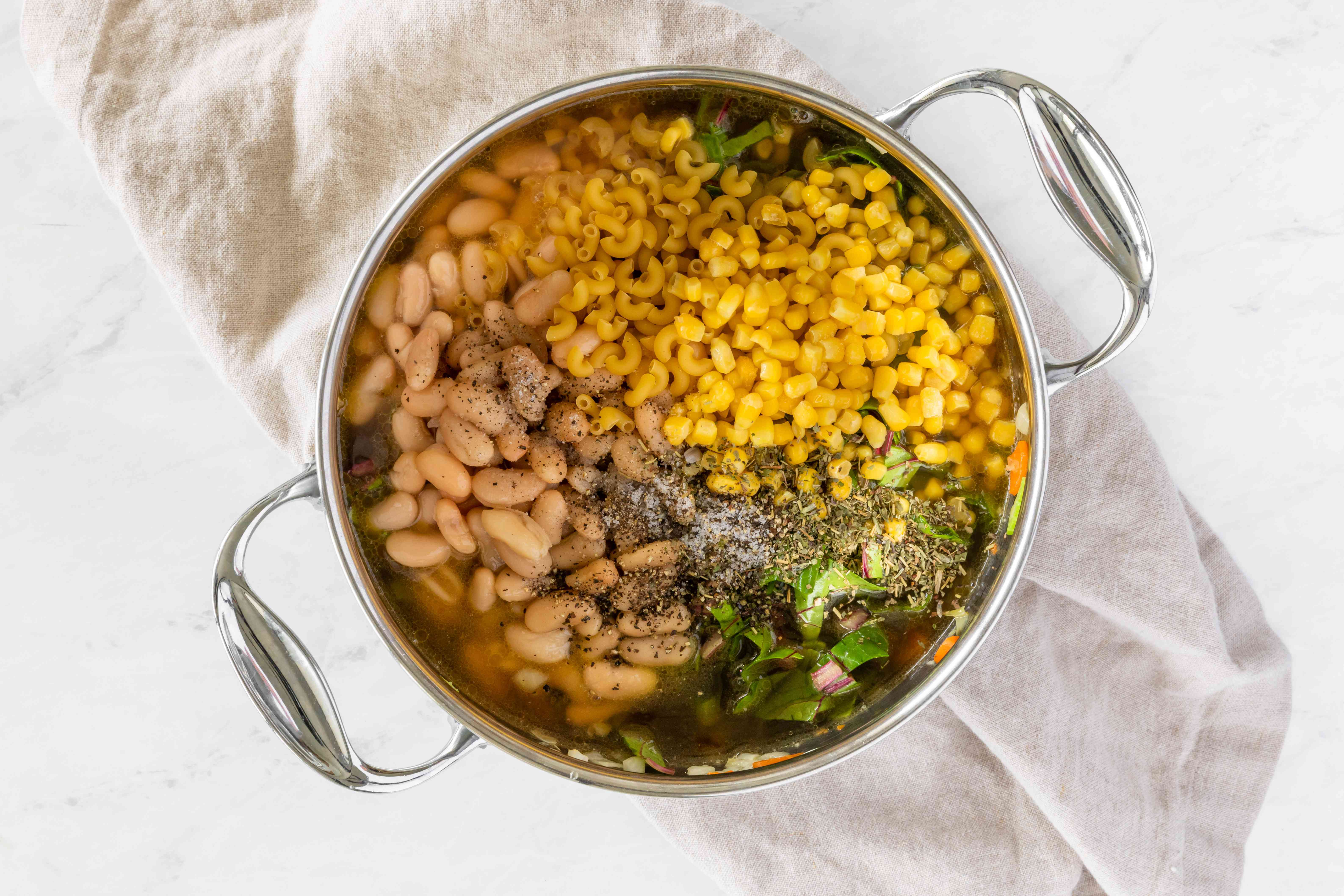 Add beans and other ingredients