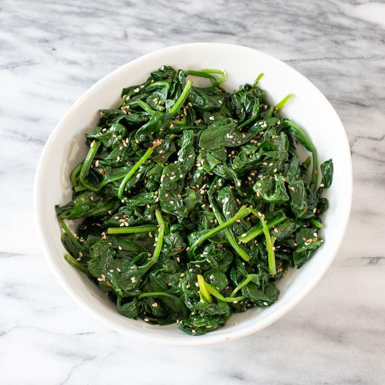 Sigumchi Namul (Korean Seasoned Spinach) Tester Image