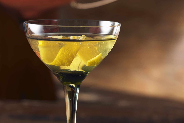 Irish Martini with Lemon Twist
