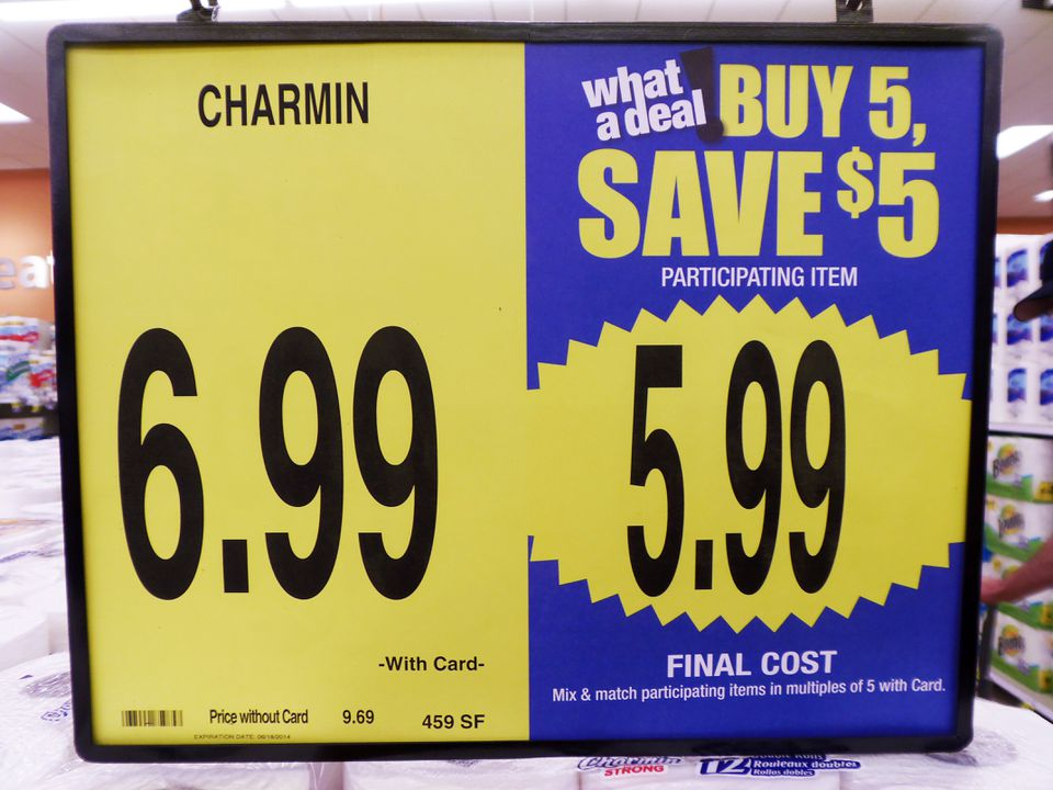 Grocery Sale Sign