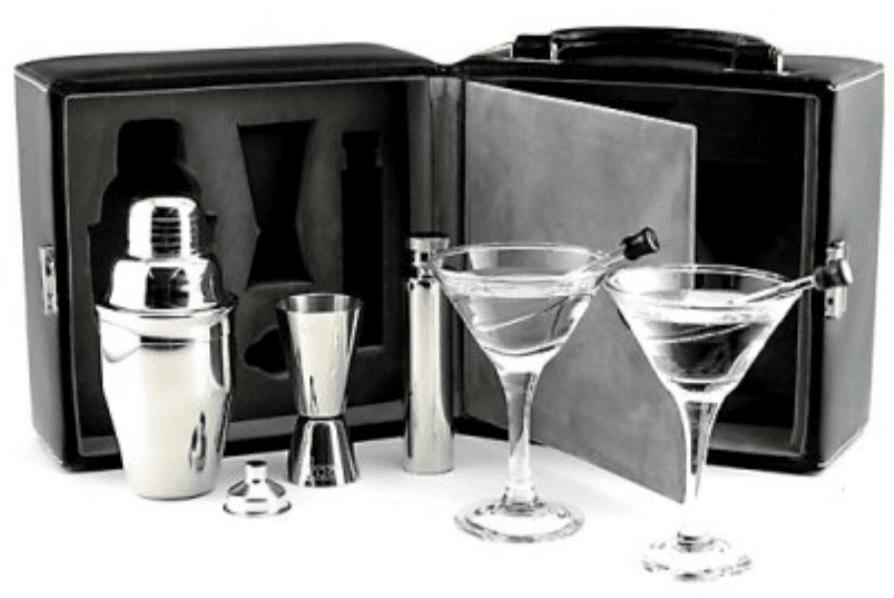 Martini Travel Bar Set with Case