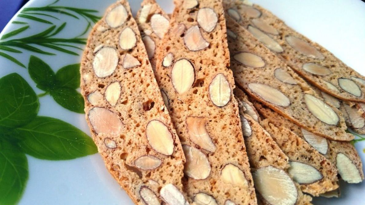 Vegan Honey Almond Biscotti