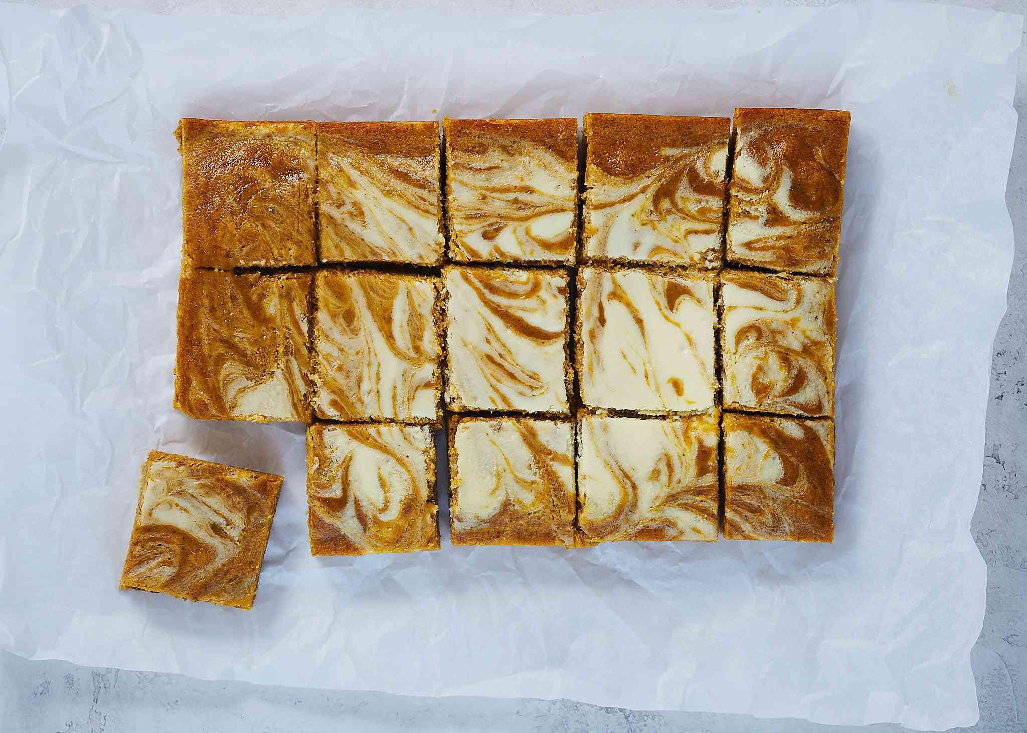 Pumpkin Cream Cheese Swirl Brownies