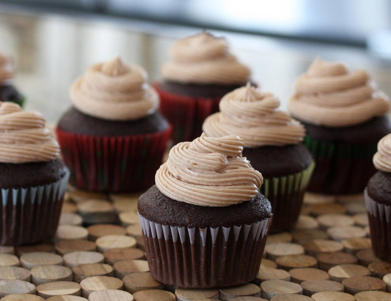 Chocolate malted cupcakes