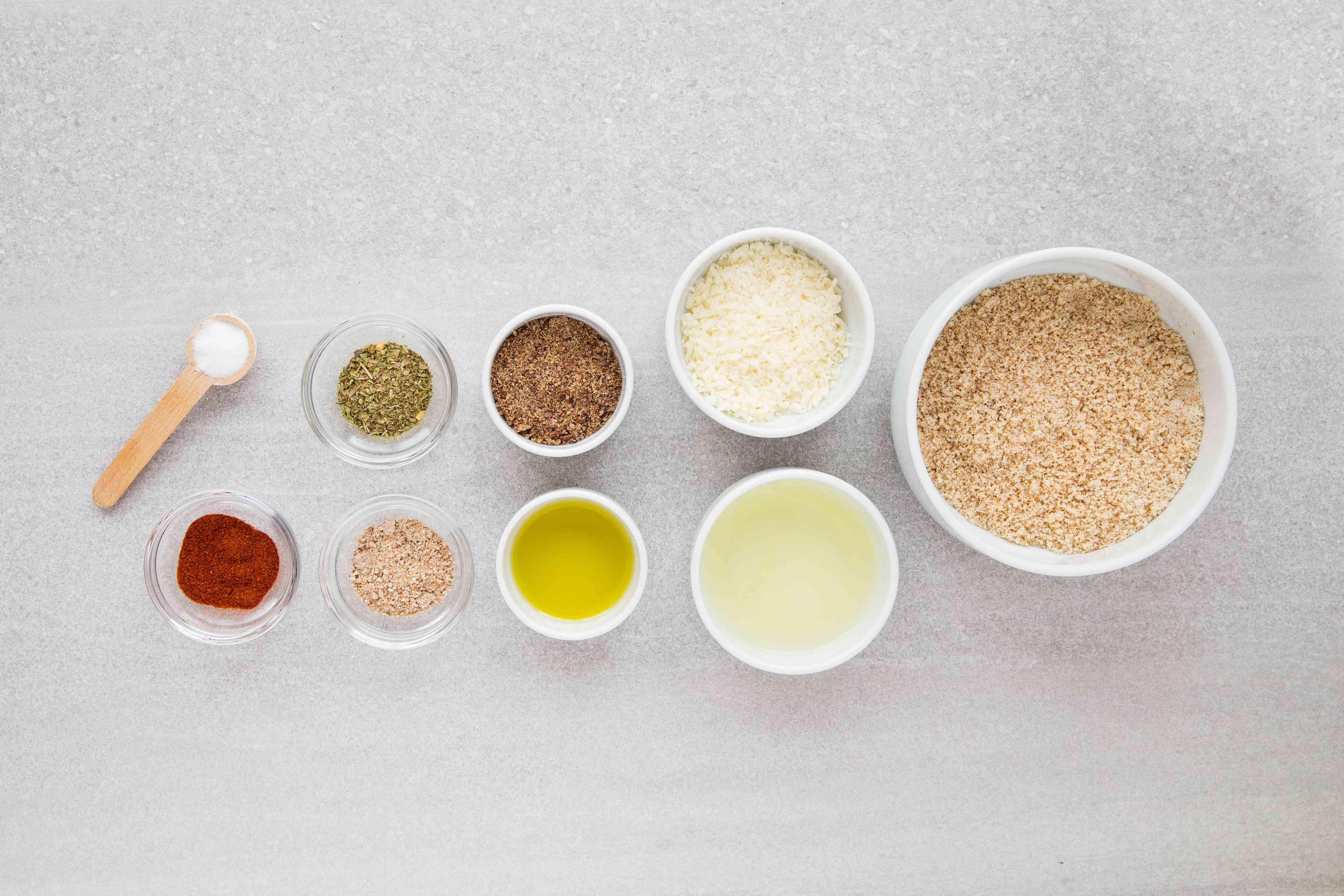 Gluten-Free Almond Flax Cracker ingredients