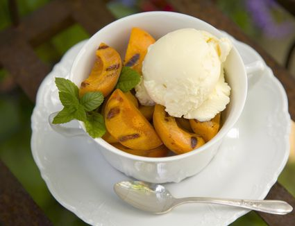 Grilled Honey Apricots