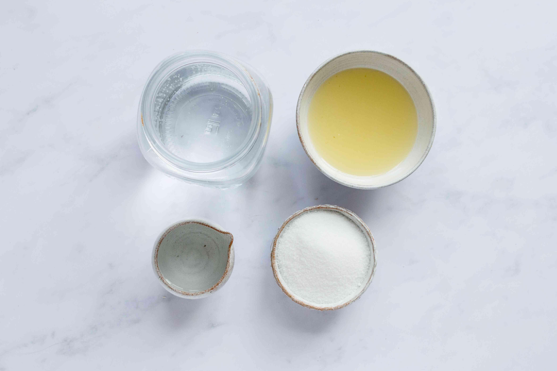 Homemade Lemonade ingredients
