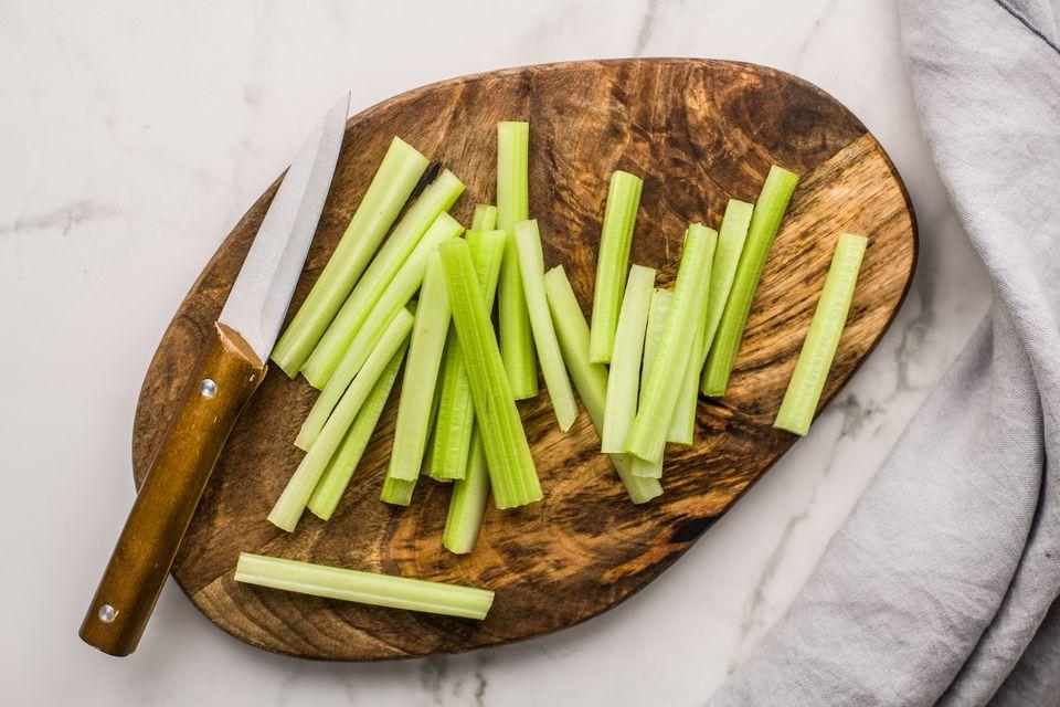 Cut celery into sticks
