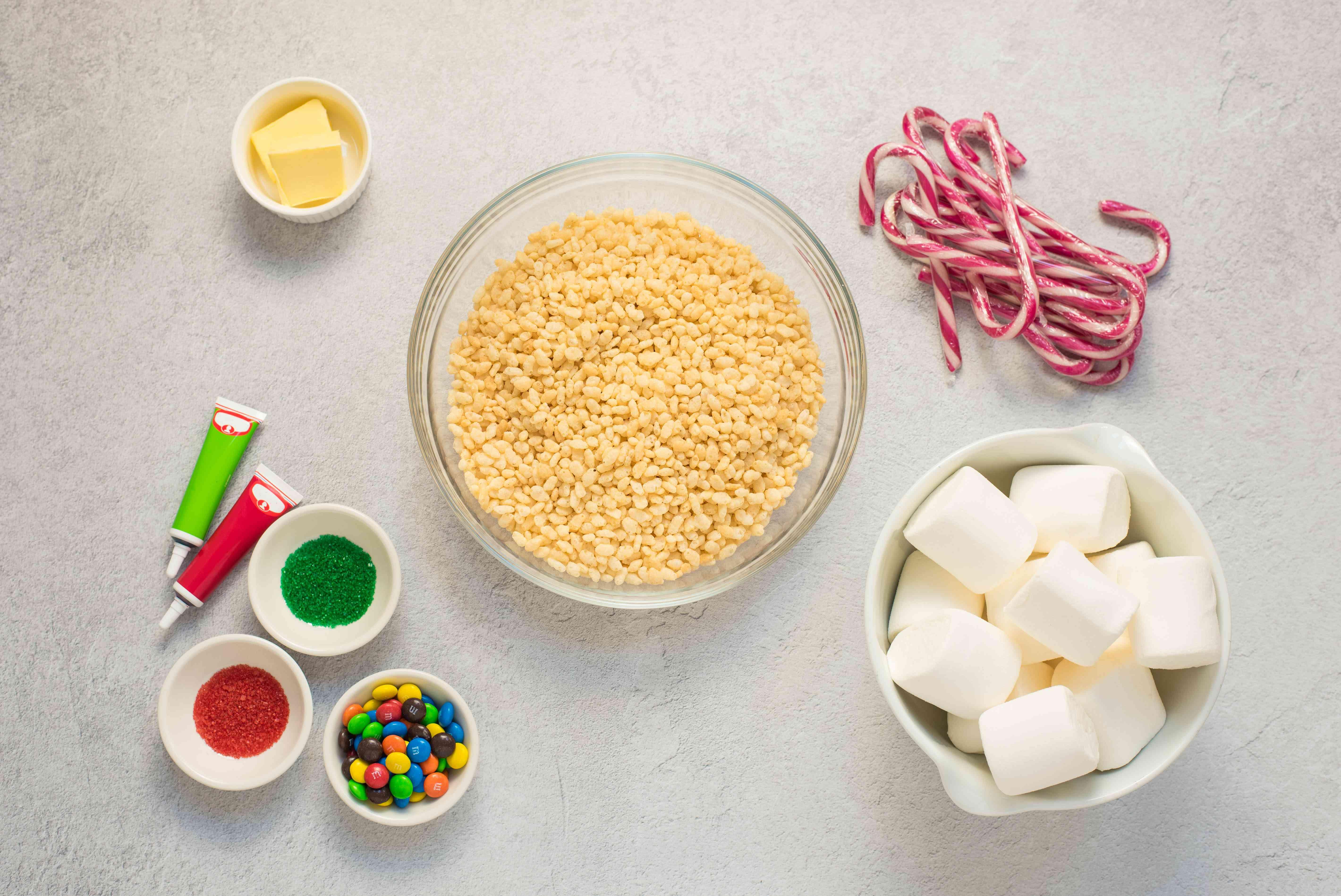 Ingredients for rice crispy treats
