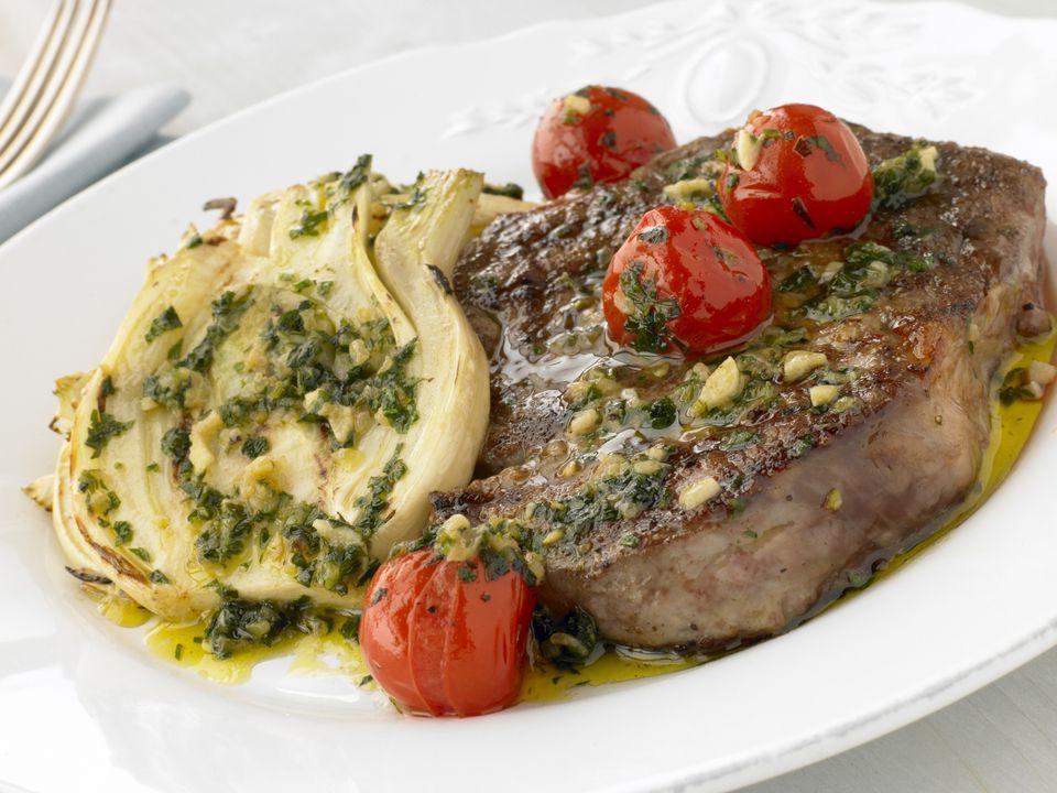 Greek grilled steak