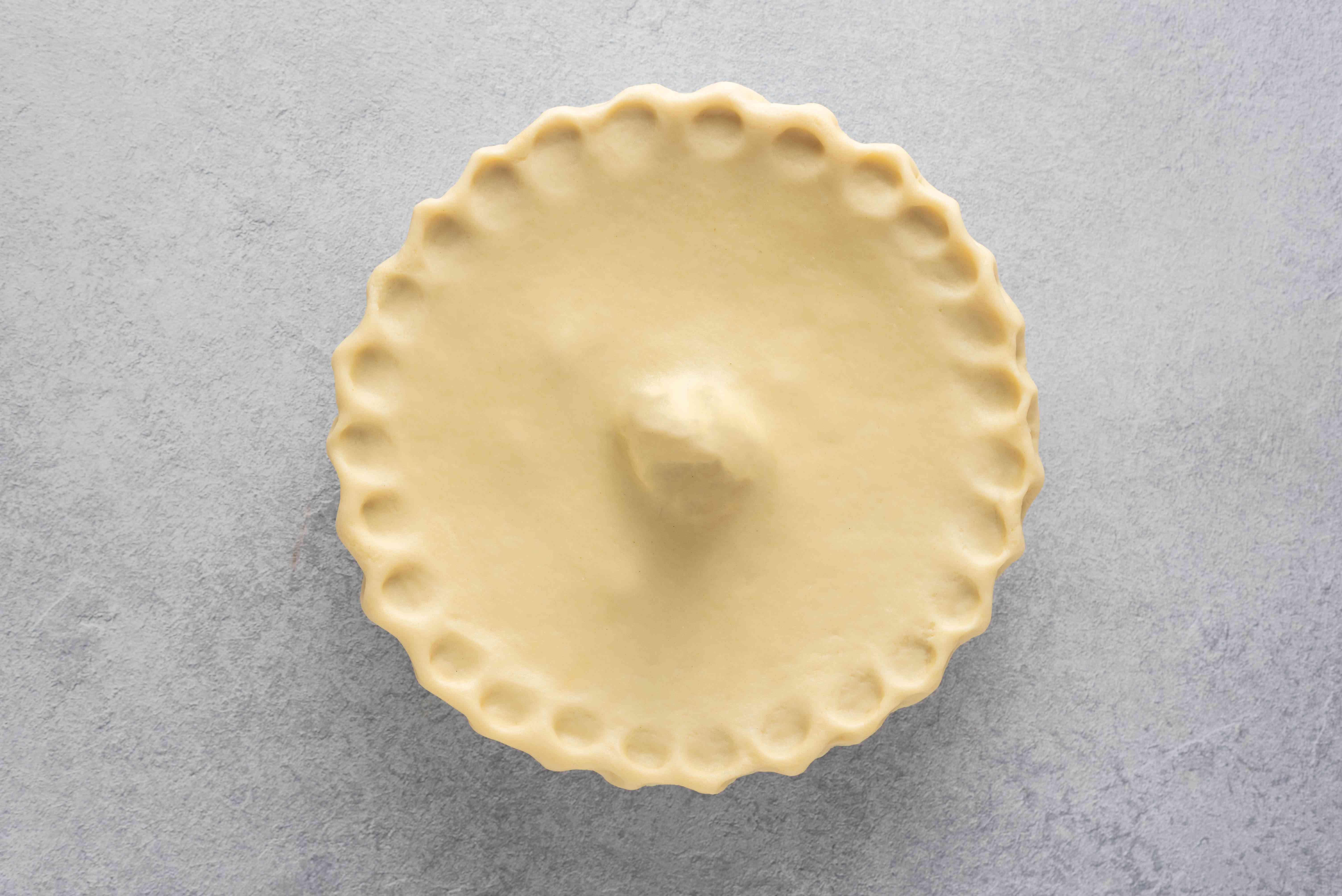 pastry lid on a pie