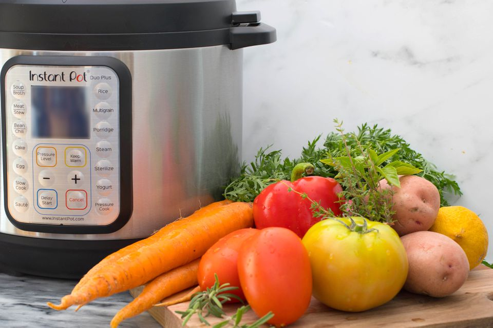 instant pot and vegetables