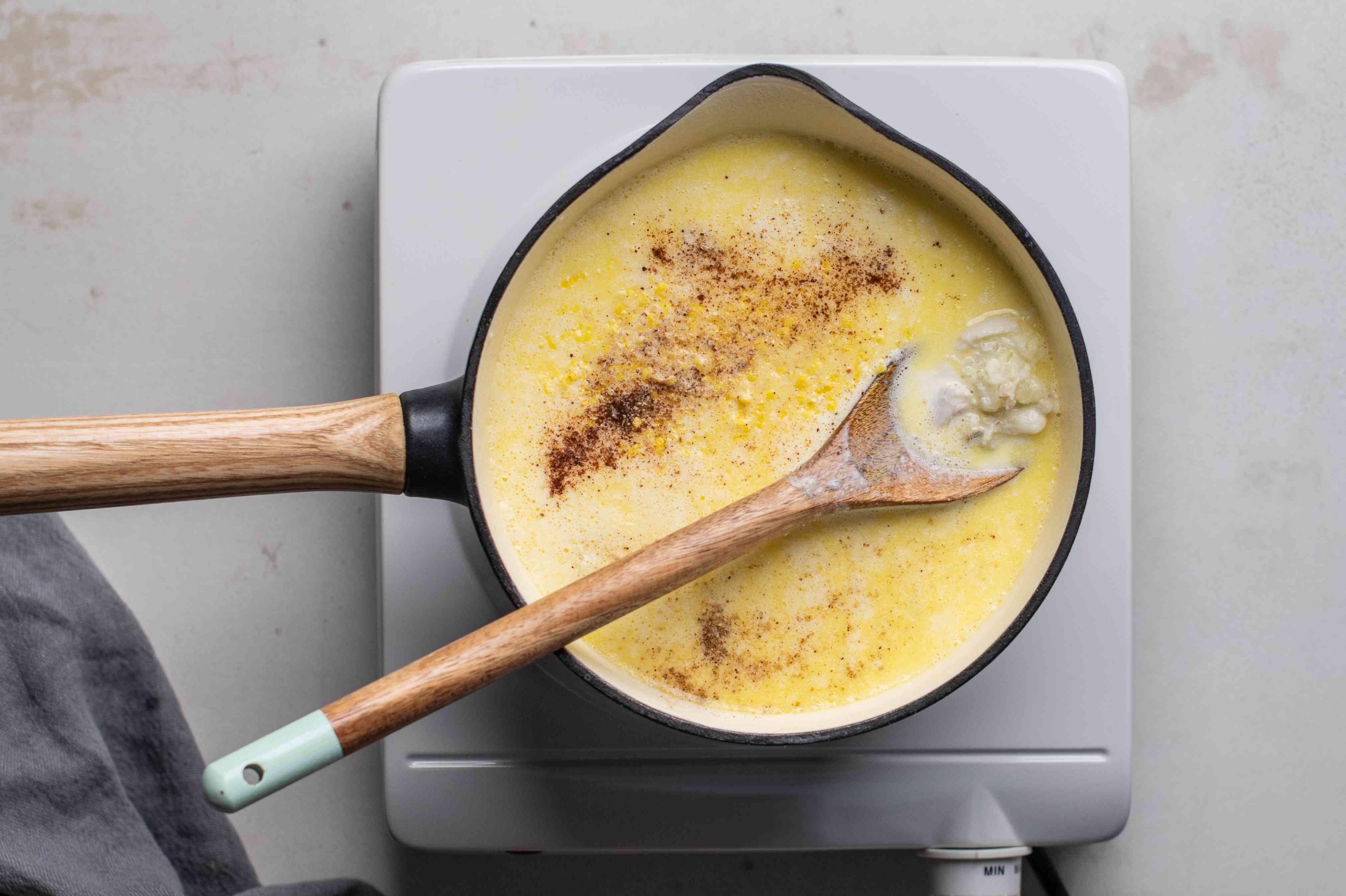 Gently stir in crabmeat
