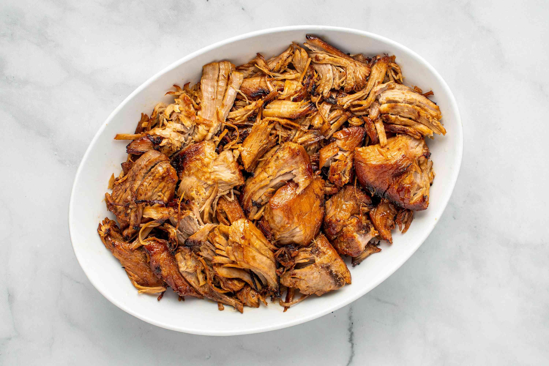Homemade Carnitas on a platter