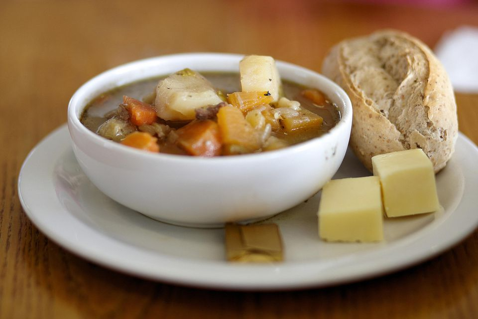 Traditional welsh cawl stew